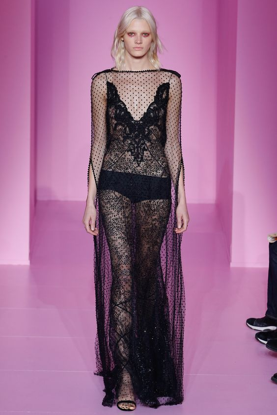 Everything YES about sheer, beaded, black Givenchy '16 Couture.