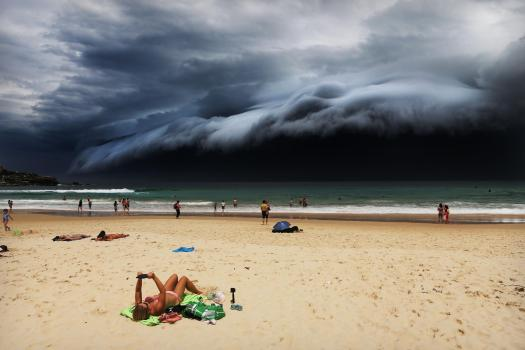 Storm Front on Bondi Beach Nature, first prize singles. Rohan Kelly.